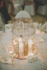 birdcage and candles