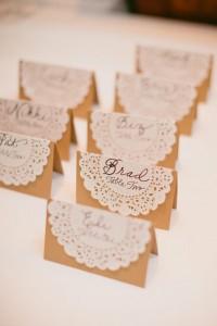 doilies place cards